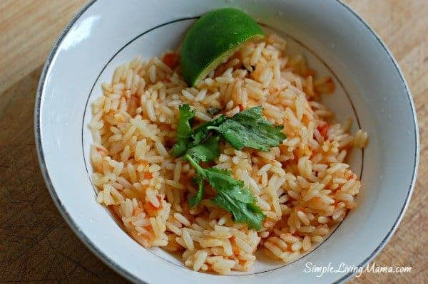 Lime cilantro Mexican rice