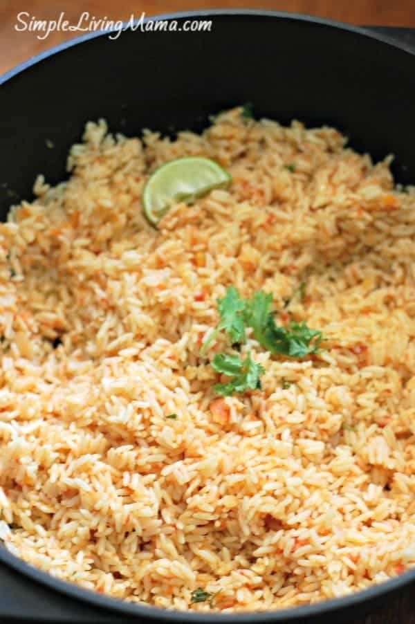 Mexican rice in the Dutch Oven