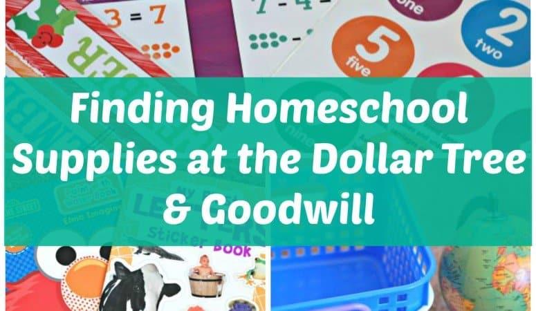 Homeschool Supplies at the Dollar Tree & Goodwill