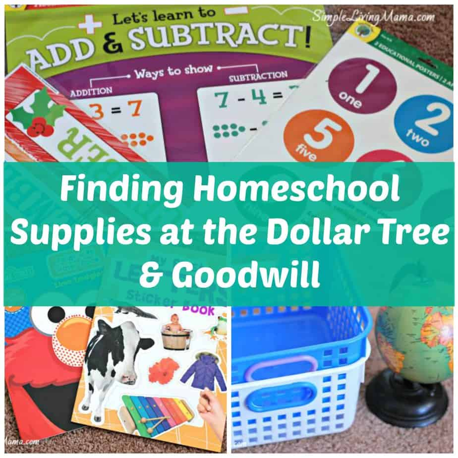Homeschool Supplies at the Dollar Tree & Goodwill - Simple