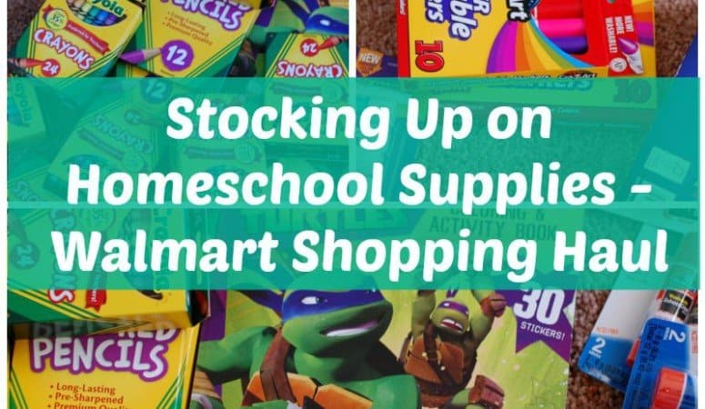 Stocking Up on Homeschool Supplies