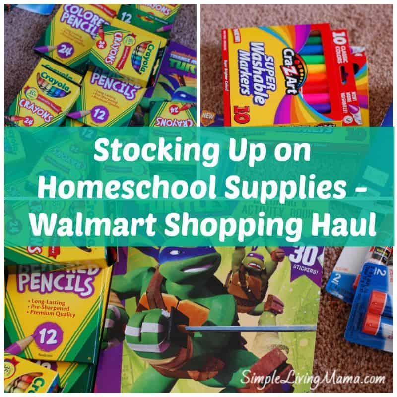 Stocking Up on Homeschool Supplies
