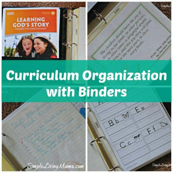 Curriculum Organization with Binders