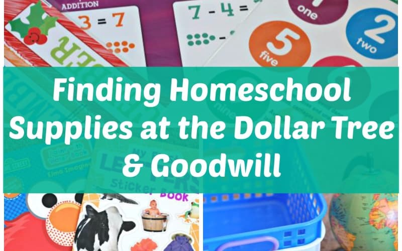 Homeschool Supplies at the Dollar Tree and Goodwill