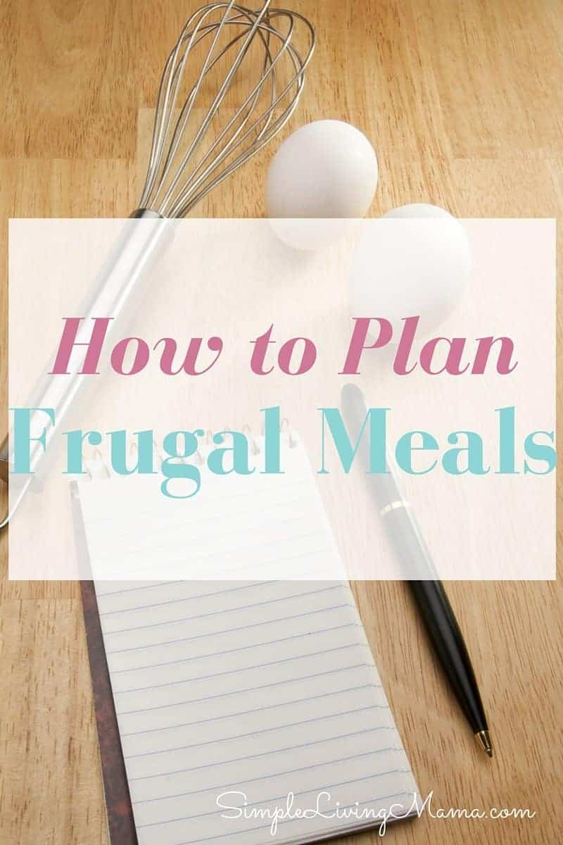 how to plan frugal meals