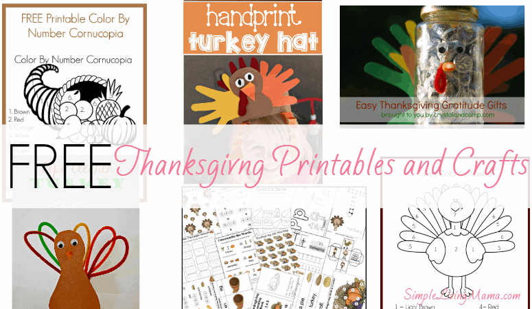 free thanksgiving printables and crafts