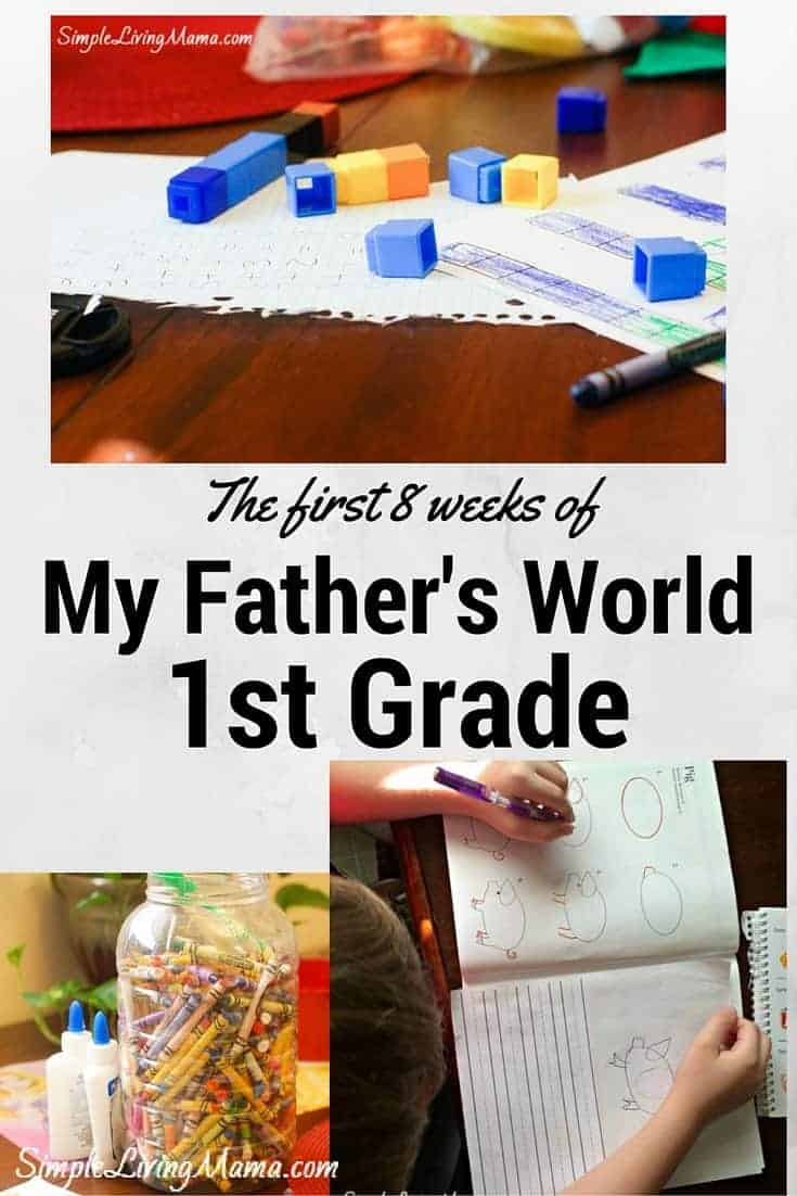 The first 8 weeks of My Father's World 1st Grade