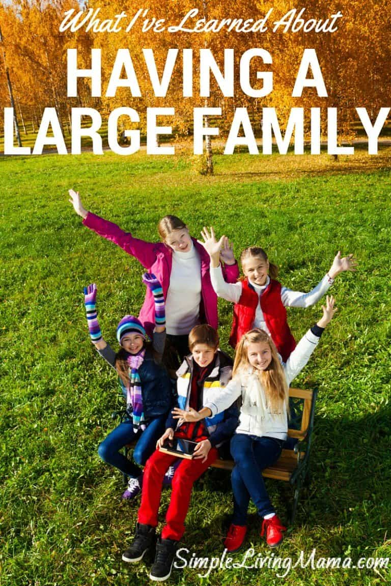 """What I've Learned About Having a """"Large"""" Family"""