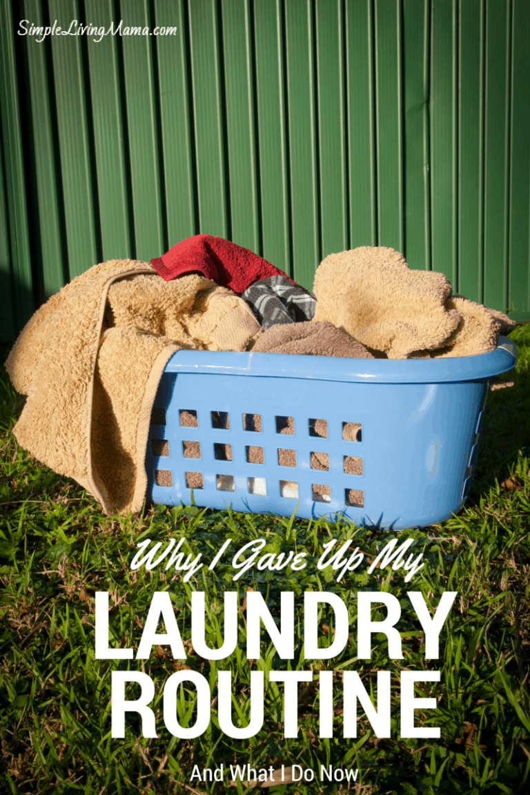 Why I Gave Up My Laundry Routine
