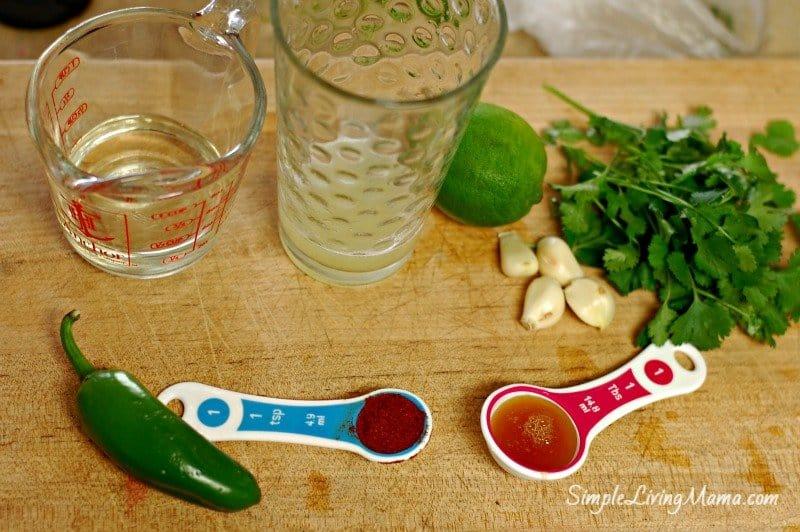 chili lime chicken marinade ingredients