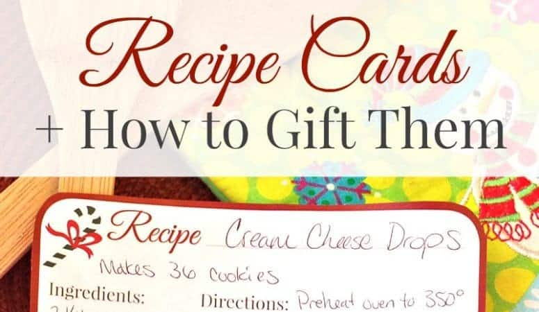Christmas Recipe Cards – Free Printable