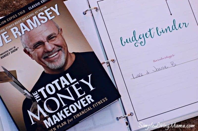Total Money Makeover and Budget Binder