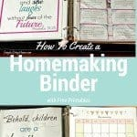 How To Create a Homemaking Binder with Free Printables