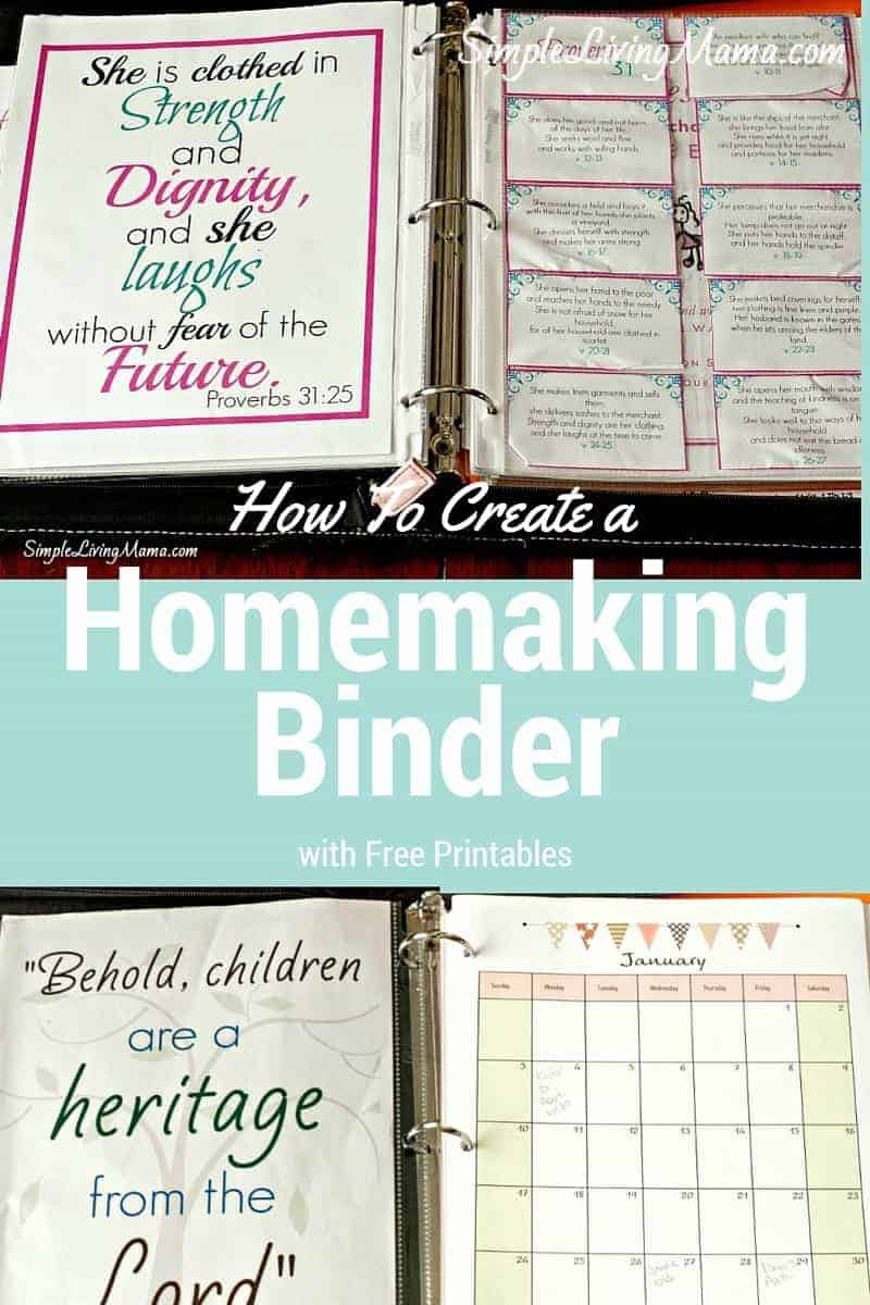 how to create a homemaking binder with free printables simple
