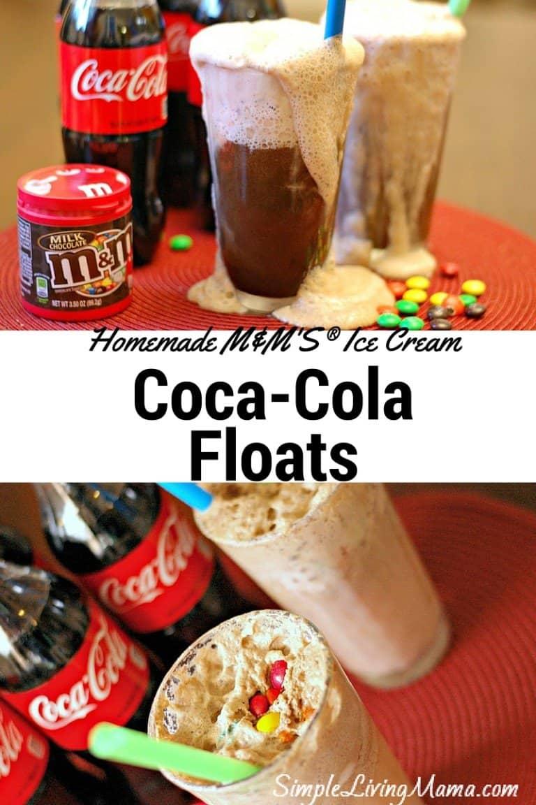 Homemade M&M'S® Ice Cream Coca-Cola Floats for Movie Night