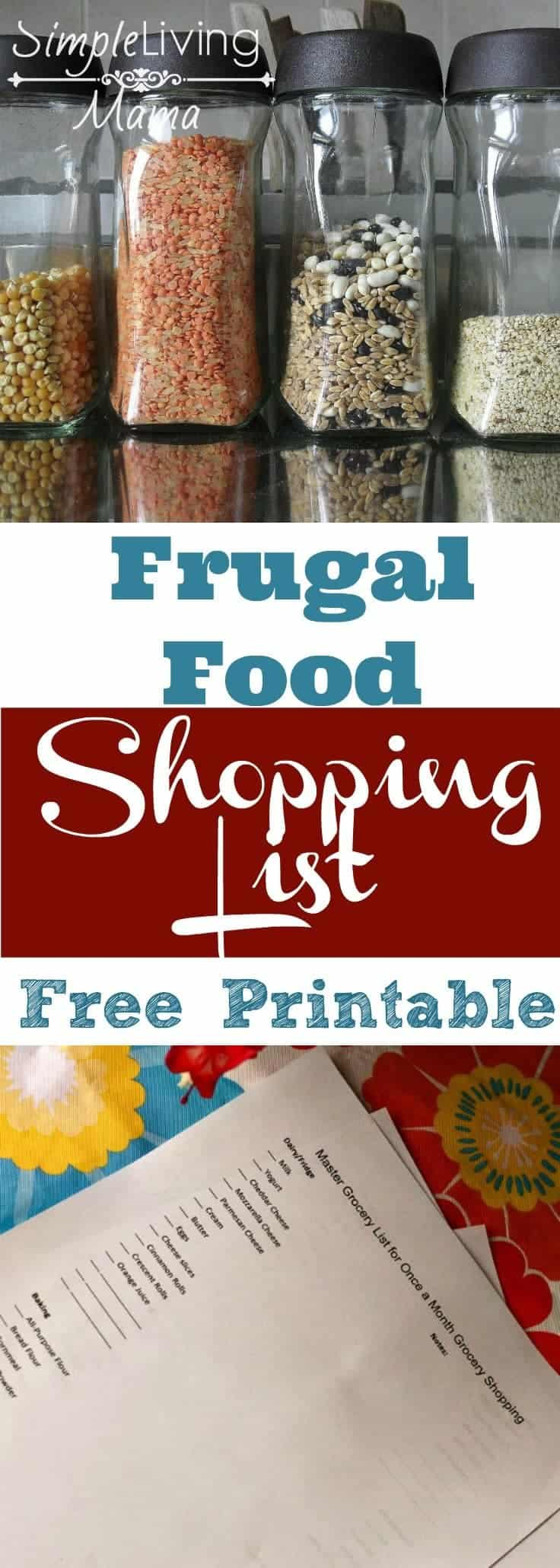 This frugal food shopping list will tell you the least expensive foods you can buy to help you trim your grocery budget.