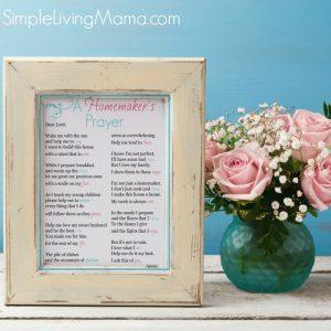 A Homemaker's Prayer Print
