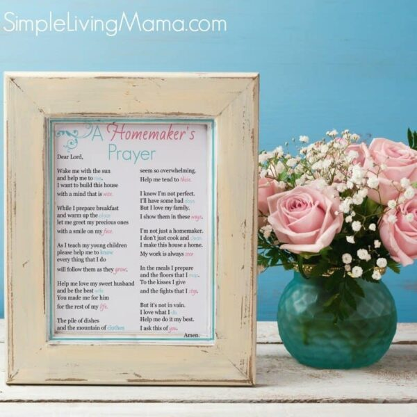 A Homemaker's Prayer Print