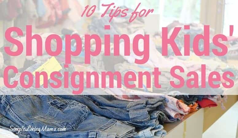10 Tips for Shopping Kids' Consignment Sales
