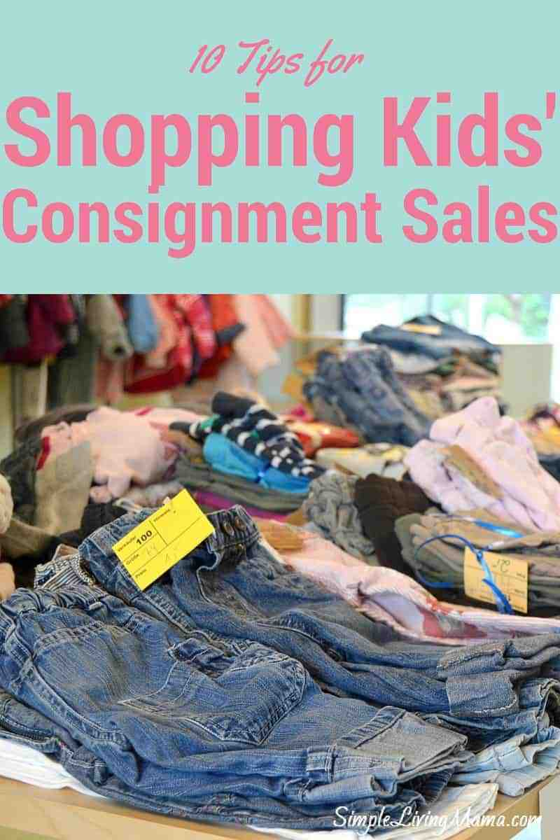 Shopping Kids' Consignment Sales