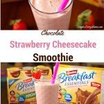 Chocolate Strawberry Cheesecake Smoothie