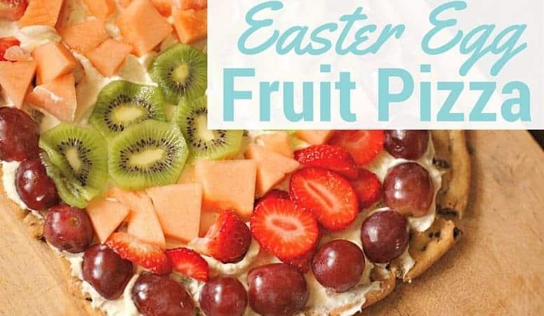 Easter Egg fruit pizza