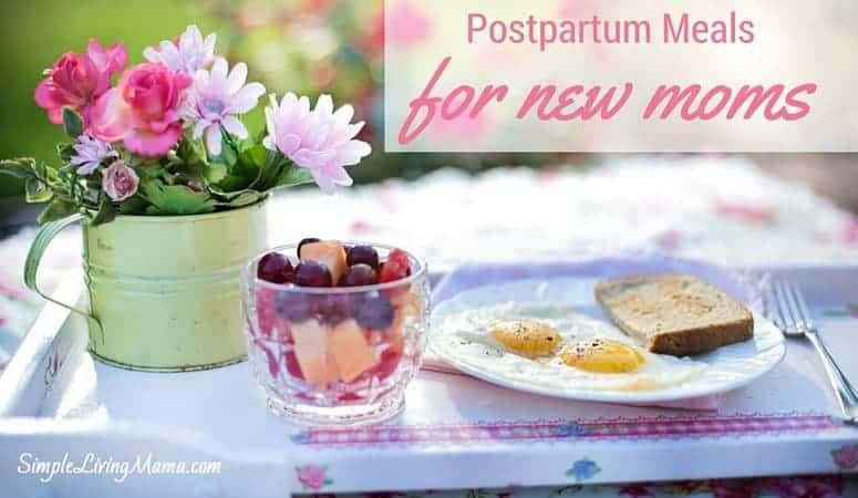 Postpartum Meals for New Moms