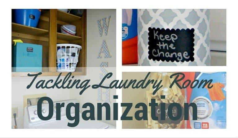 Tackling Laundry Room Organization – Plus a DIY WASH Sign