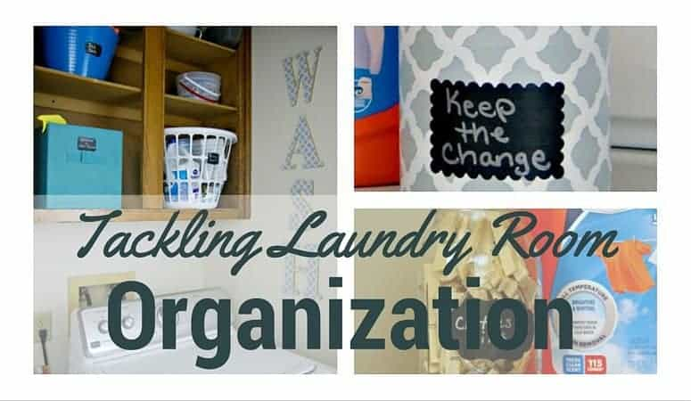 Tackling Laundry Room Organization – Plus a DIY WASH Sign