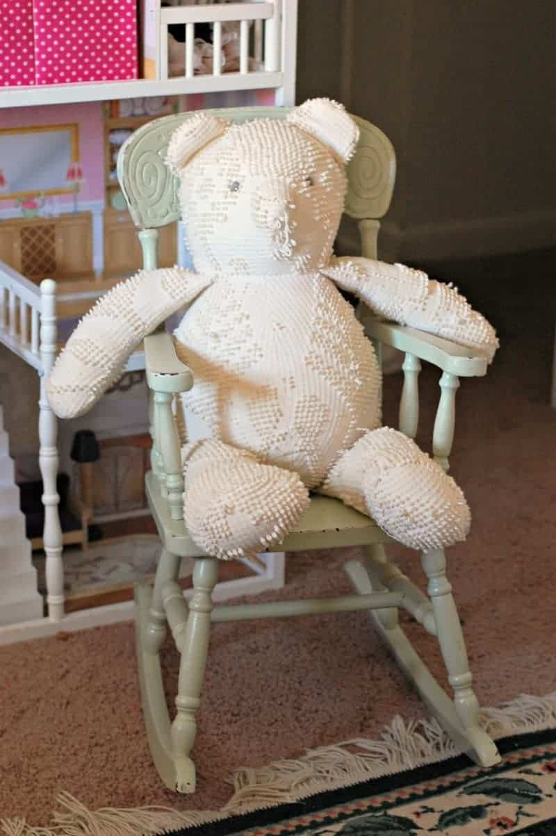 bear in a chair