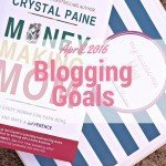 April 2016 Blogging Goals