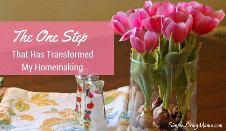 The One Step That Has Transformed My Life as a Homemaker