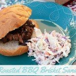 Oven Roasted BBQ Brisket Sandwiches