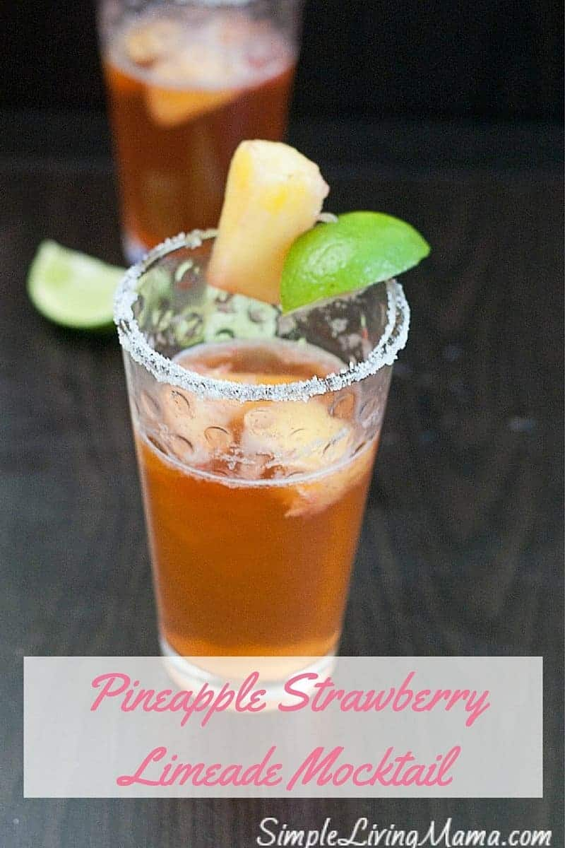 Pineapple Strawberry Limeade Mocktail (1)