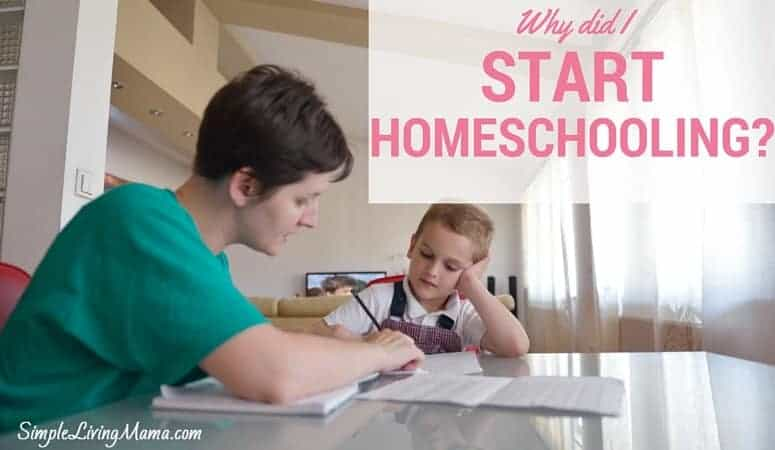 Why Did I Start Homeschooling?