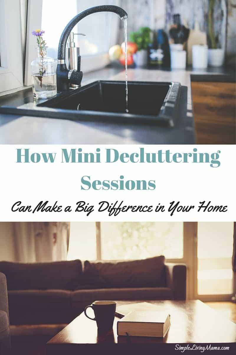how mini decluttering sessions can make a big difference
