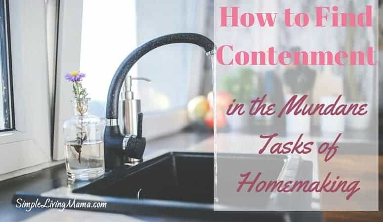 How To Find Contentment in the Mundane Tasks of Homemaking