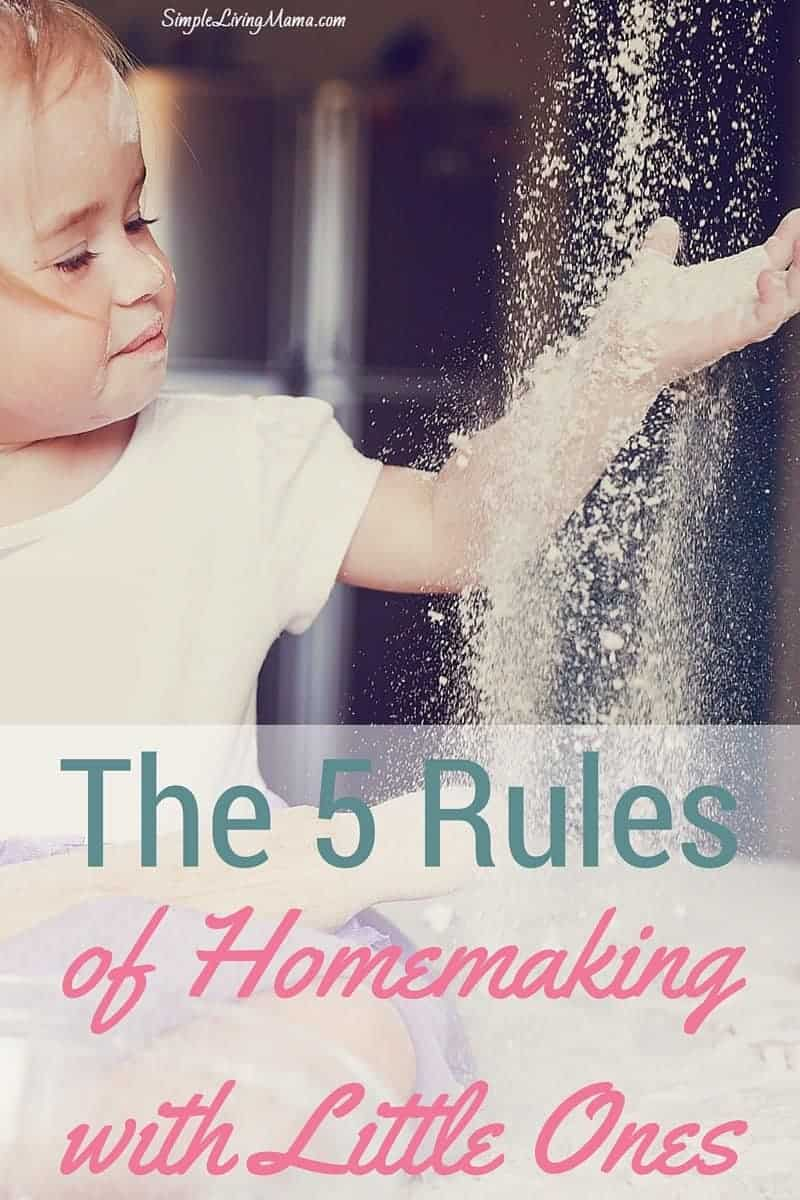 The 5 Rules of Homemaking with Little Ones