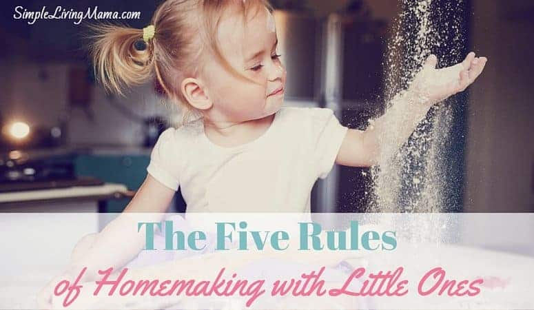 The five rules of homemaking with little ones