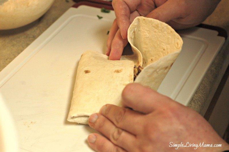 folding burritos