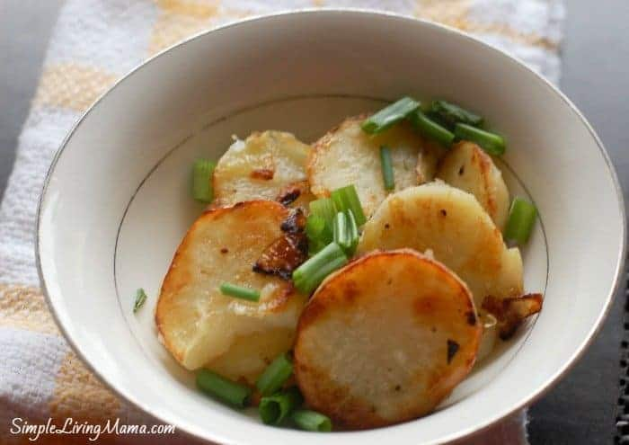 fried onions and potatoes recipe