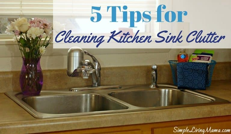 5 Tips for Cleaning Up the Kitchen Sink Clutter + Three Cheese Baked Macaroni Recipe