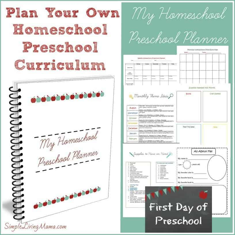 Plan your own homeschool preschool lesson plans with the homeschool preschool planner!