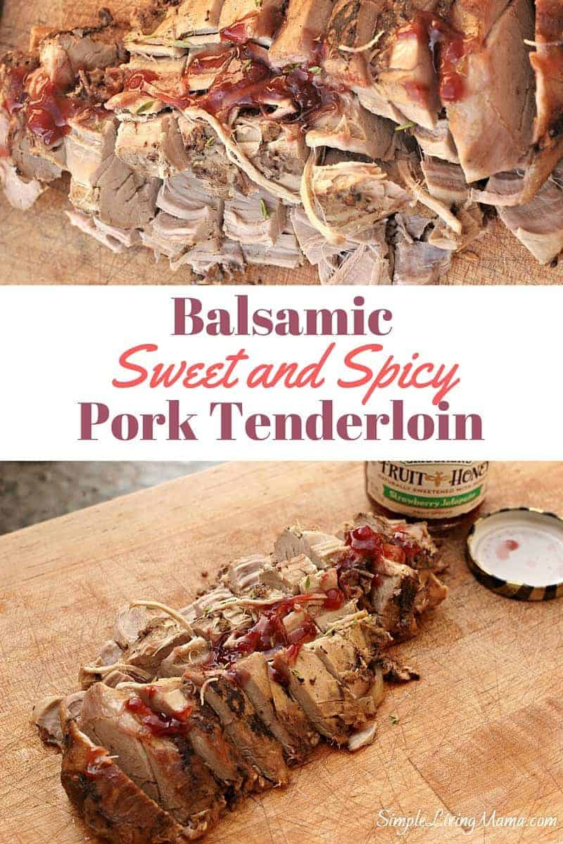 Delicious sweet and spicy balsamic pork tenderloin cooked in the crockpot is the perfect fancy weeknight dinner.