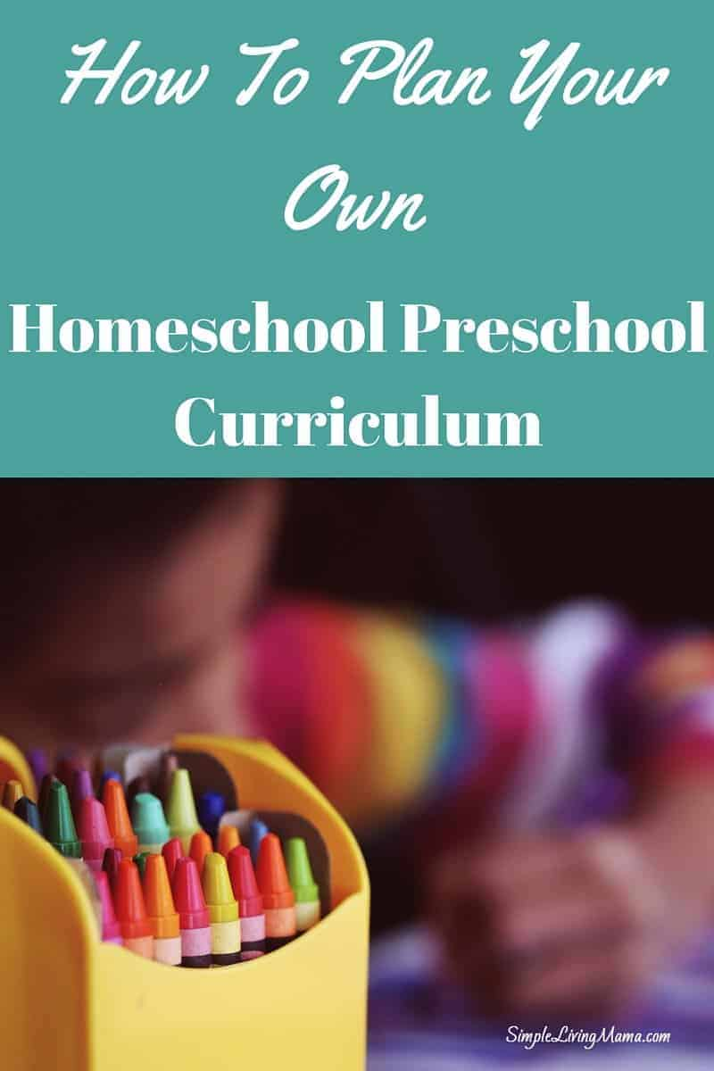 Learn how to homeschool preschool and create your own homeschool preschool lesson plans!