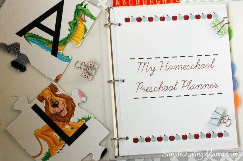 Preschool Planner Cover