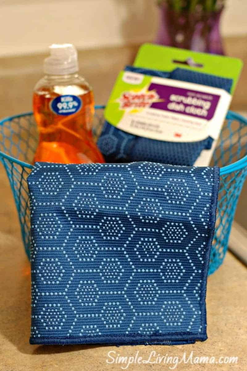 basket of dish cloths