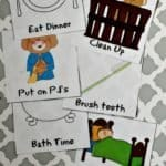 Morning and evening routine cards