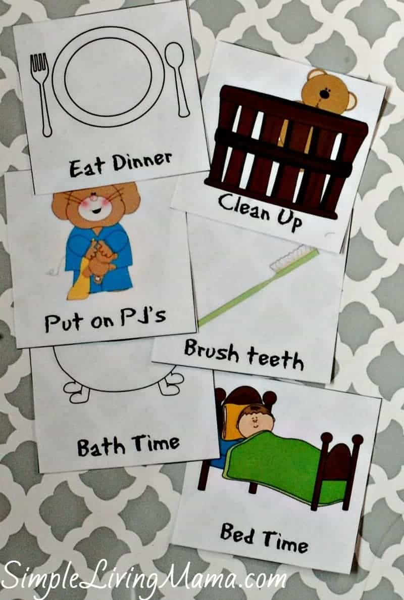 evening routine cards