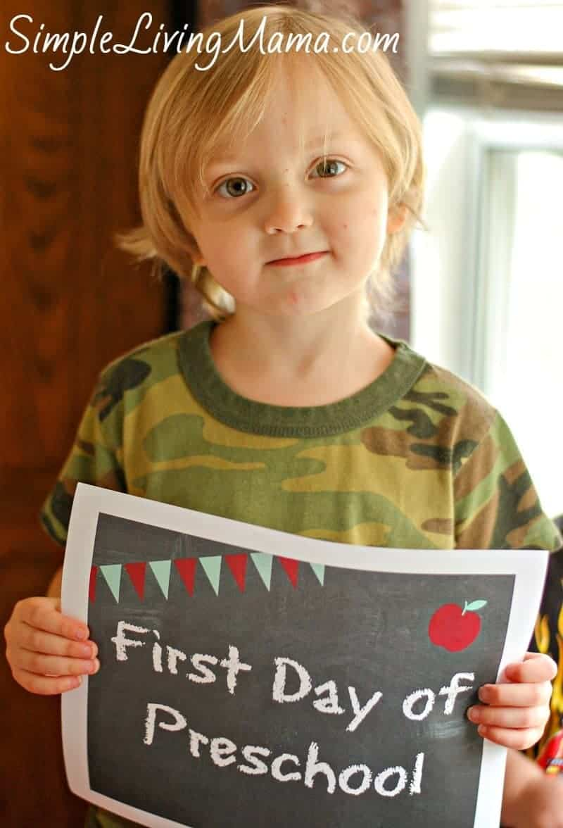 First day of preschool pictures